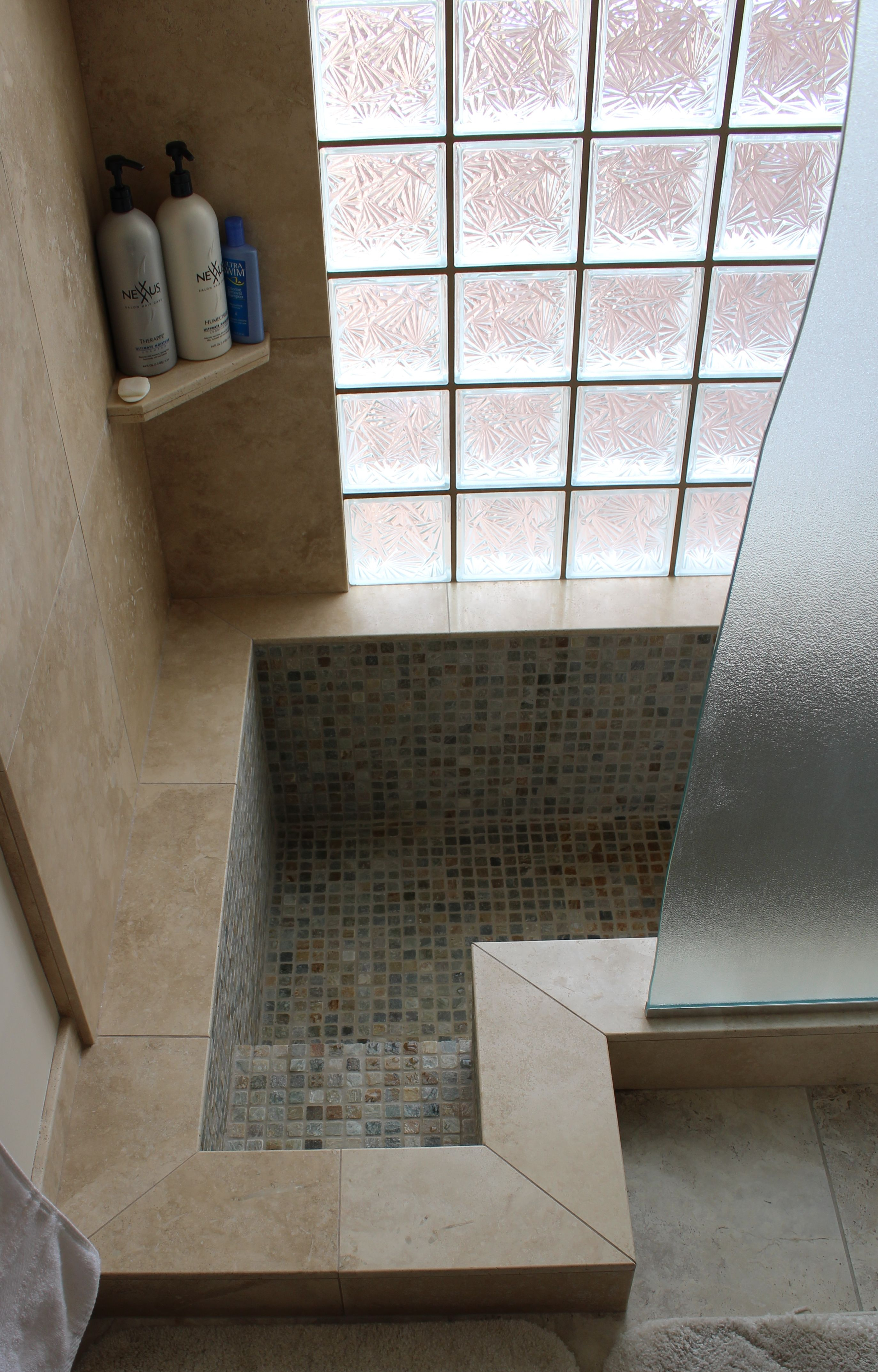 A Step Down Shower By Canyon Lake Construction Shower Tub Combination Bathtub Shower Combo Shower Tub [ jpg ]