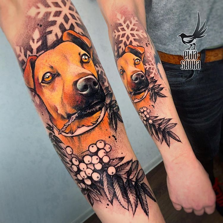 ️ #ewasroka ️#dogtattoo #doglover #petportrait #tattoo #dotwork #dotworktattoo #polishtattooartist #polandtattoos #poland | Artist: @ewasrokatattoo