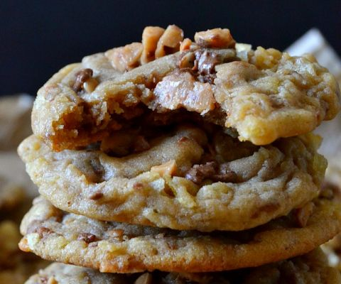 Potato Chip Toffee Cookies