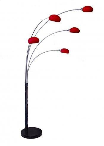 fiver lounge 5 chrome arc floor lamp