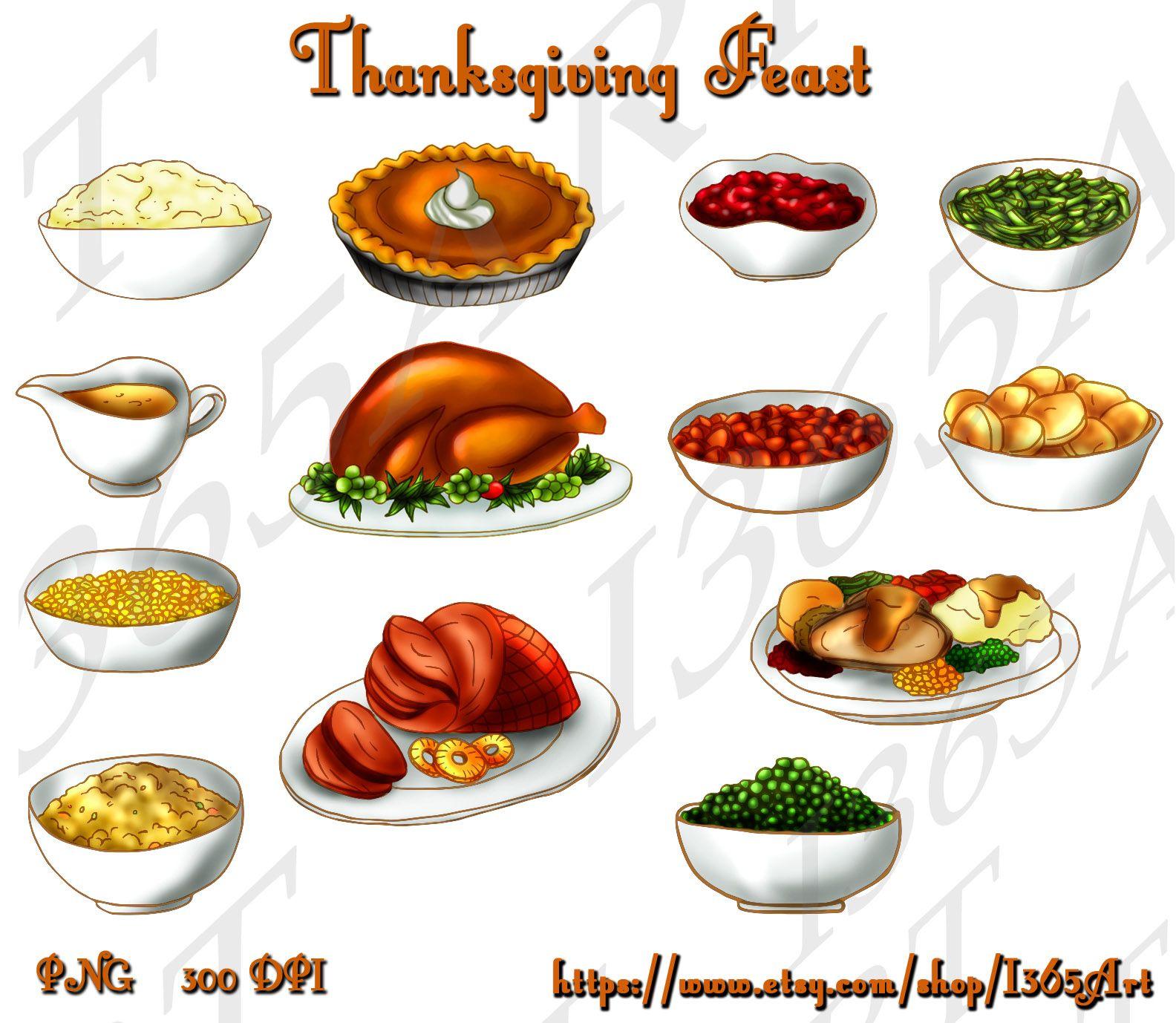 Thanksgiving Turkey Dinner Clip Art Free