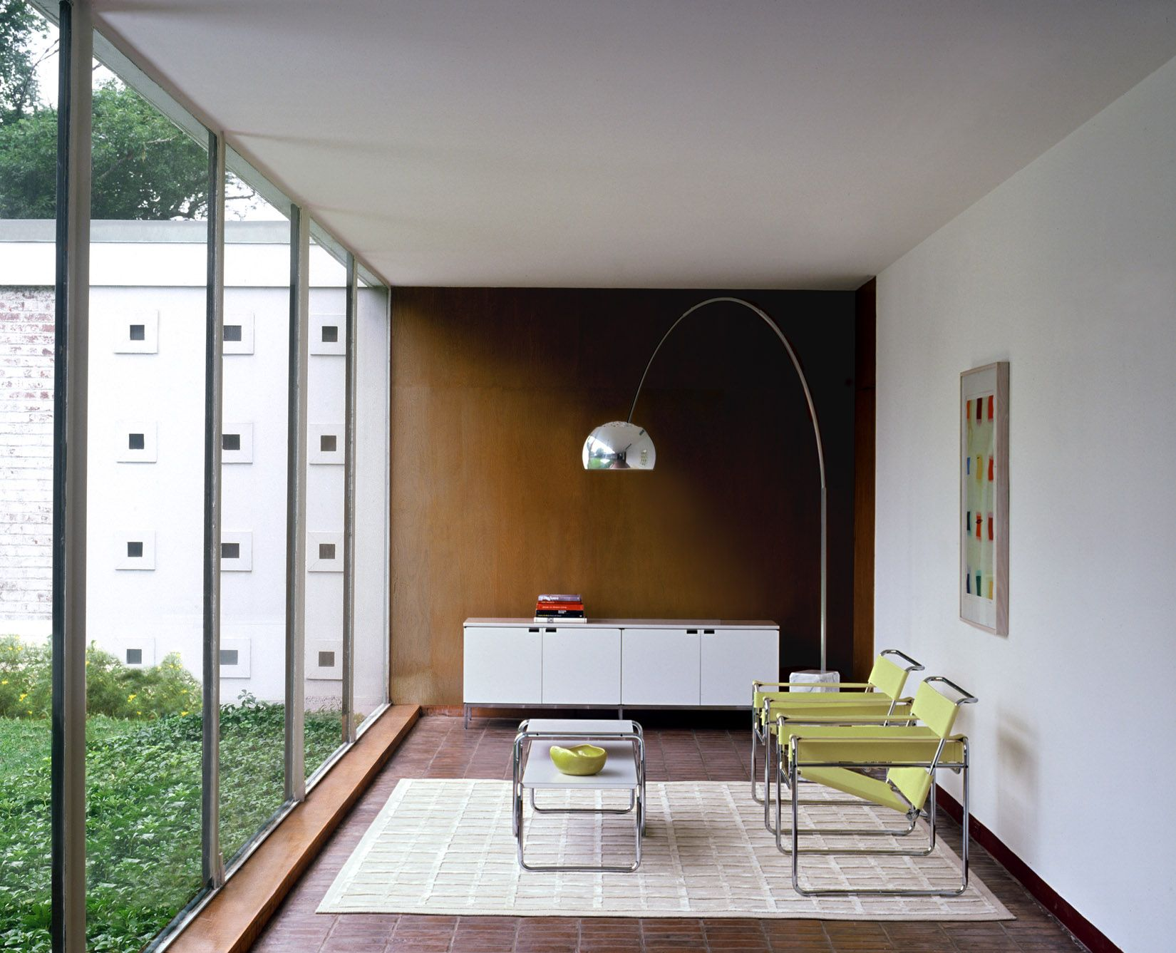 Wassily Chairs and the Laccio Table, designed by Marcel