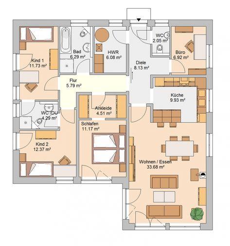 InnenarchitekturEhrfürchtiges Bungalow Grundriss Planung
