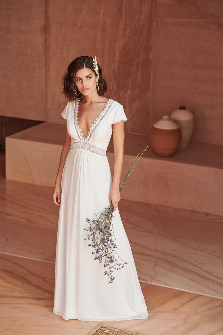 Sunset Boulevard Dress Simple Wedding Dress Boho Simple Wedding Dress Short Simple White Dress [ 1154 x 770 Pixel ]