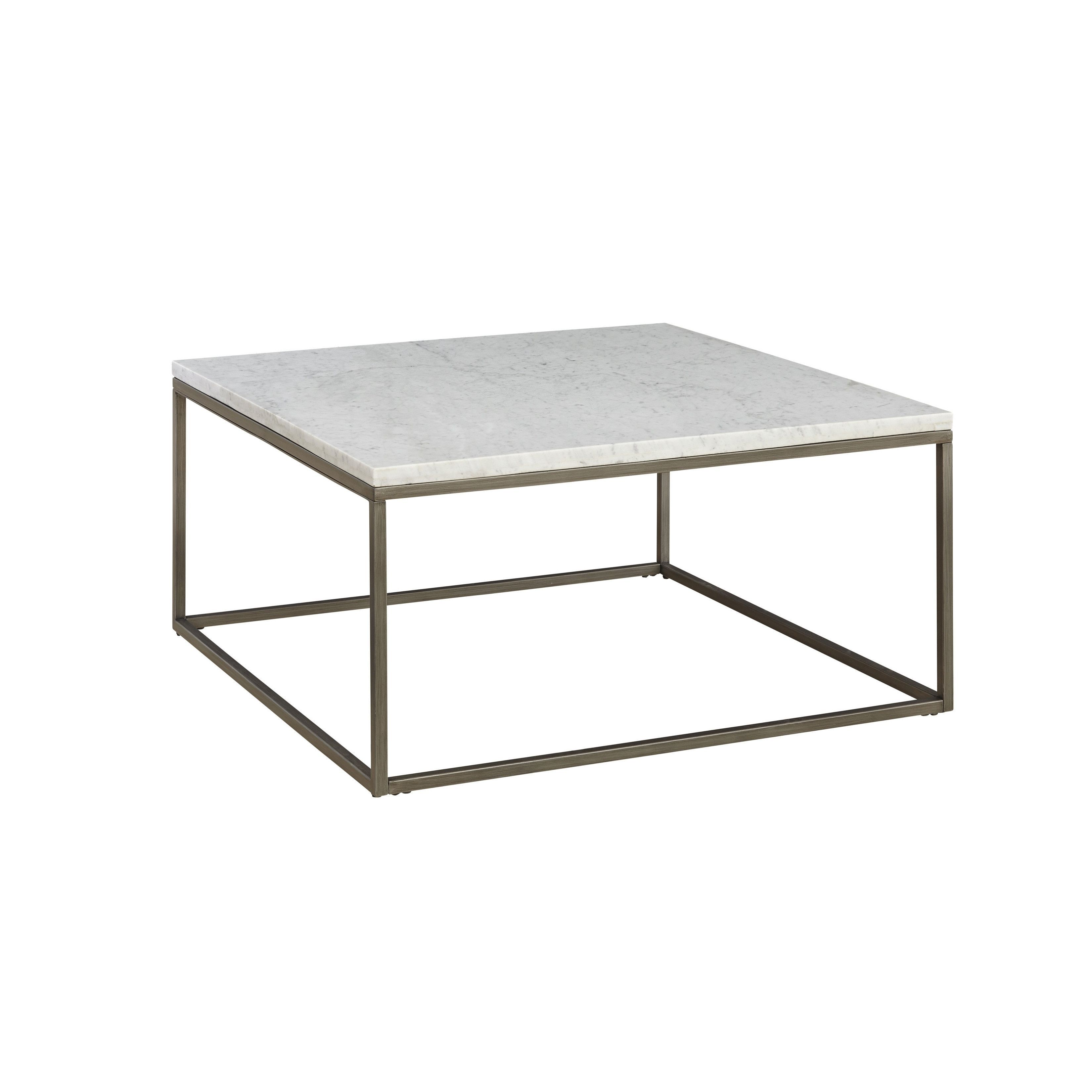 Alana White Marble Square Coffee Table Coffee End Tables