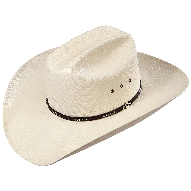 Stetsona Llano Straw Cowboy Hat Cowboy Hats Straw Cowboy Hat Brown Leather Hat