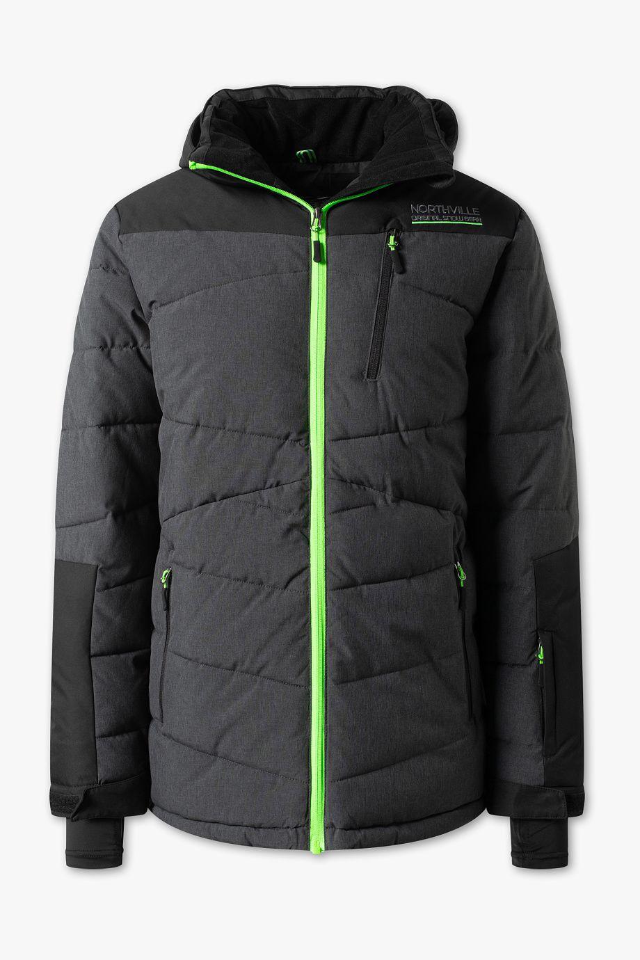 Heren Ski jack zwart grijs Kinderkleding, Grijs en Zwart