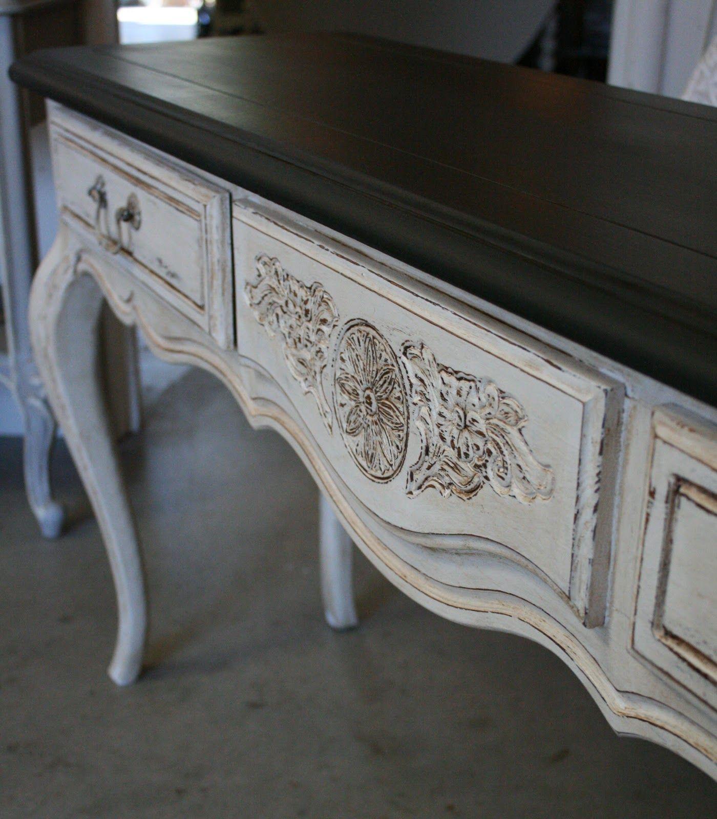 Dark Brown Chalk Paint Kitchen Cabinets: Best 25+ White Console Table Ideas On Pinterest