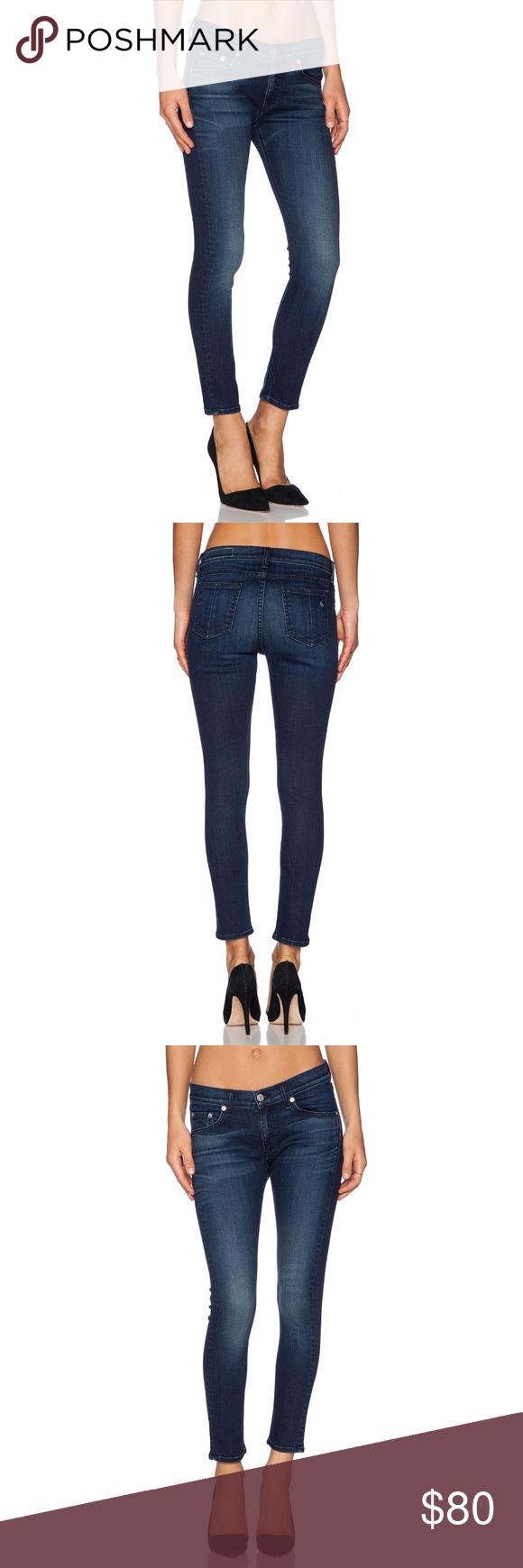 effab55ba rag & bone The Capri Jean Southport Dark Wash Slimming skinny style jeans  with stretch COLOR Southport dark wash 98% cotton , 2% polyurethane 13