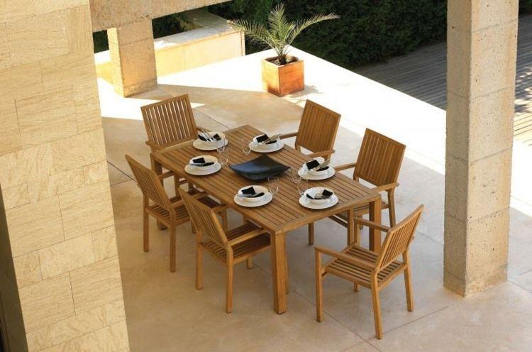 Salon de jardin en teck – de l\'élégance et du luxe en ...