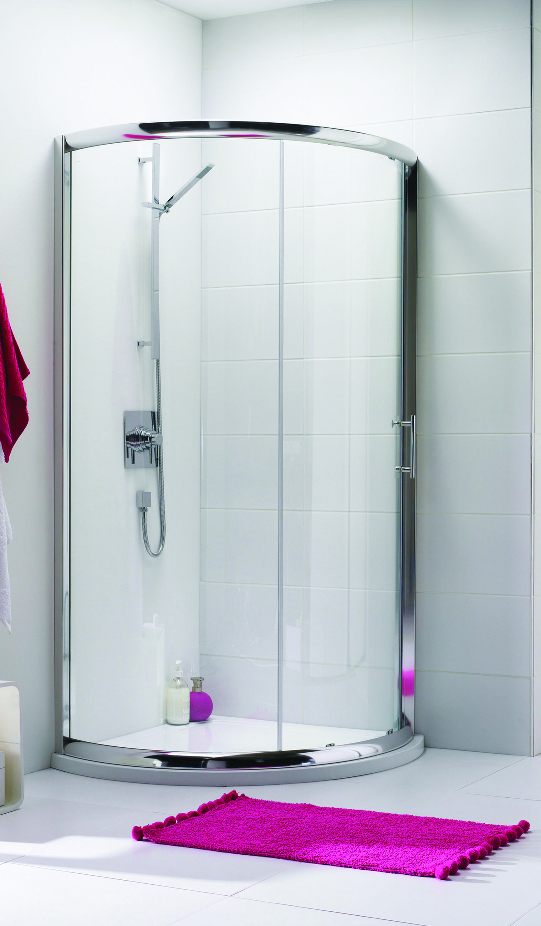 The Ice Single Door Quadrant Shower Enclosure Available In Various