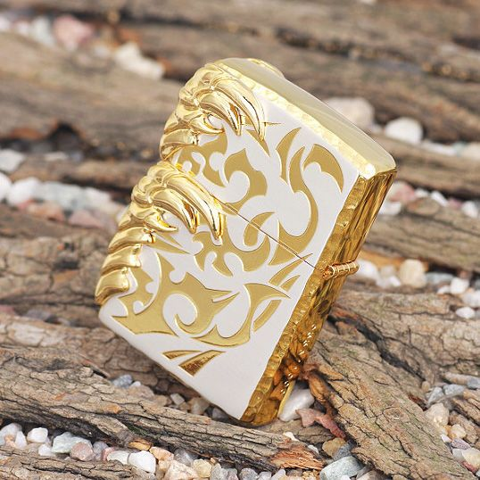 Zippo tribal dragon golden claw brutal black dragon gold making after fossil island