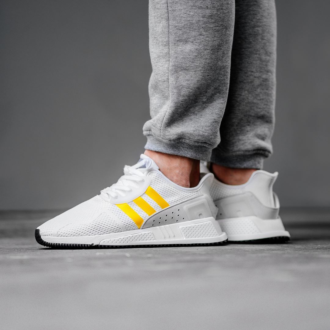 new arrival 83167 b7154 Release Date   April 11, 2018 Adidas EQT Cushion ADV White   Yellow Credit    BSTN