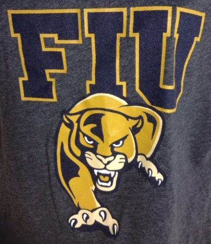 Womens Florida International University Crop Top Small Roary the Panther Gray