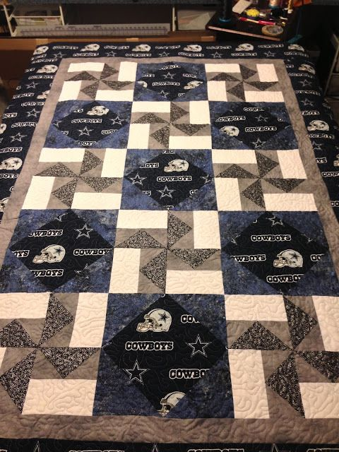 Dallas Cowboys Football Quilt Blanket For Fan