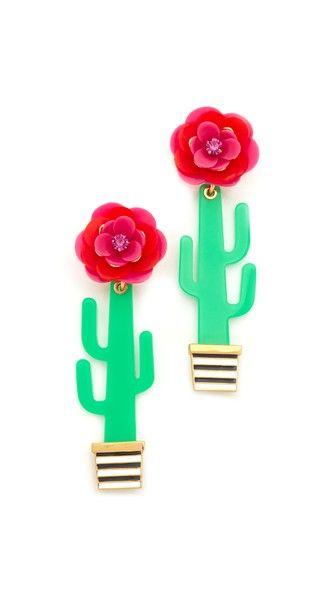Kate Spade Cactus Statement Earrings Katespade Earrings Kate