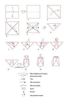 croquis origami de la boite pochette - Tête à modeler | Origami, Cadeaux origami, Design origami