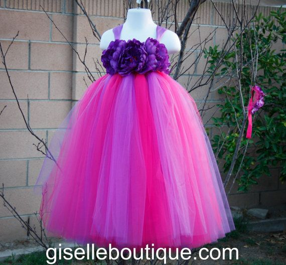 Flower girl dress purple and hot pinkby by giselleboutique flower girl dress purple and hot pinkby by giselleboutique 9500 mightylinksfo Choice Image