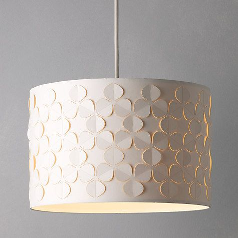 Buy John Lewis Clara Cutwork Drum Shade White Online At
