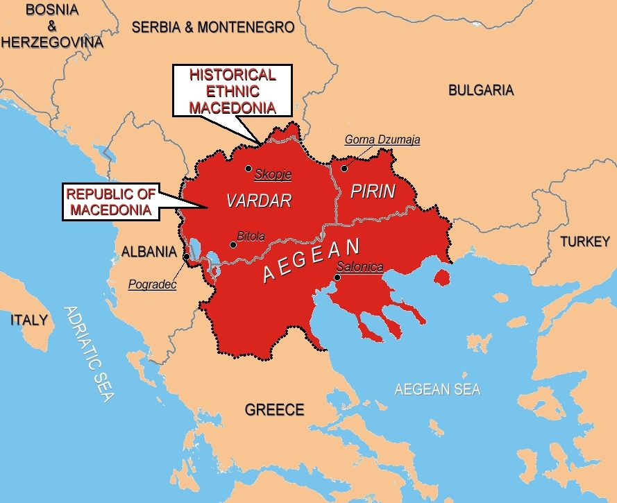 Map Of United Macedonia As Envisaged By Macedonian Nationalists - Macedonia map quiz