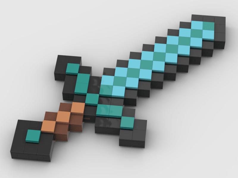 Diamond Sword Minecraft Diamond Sword Lego Minecraft Lego Instructions