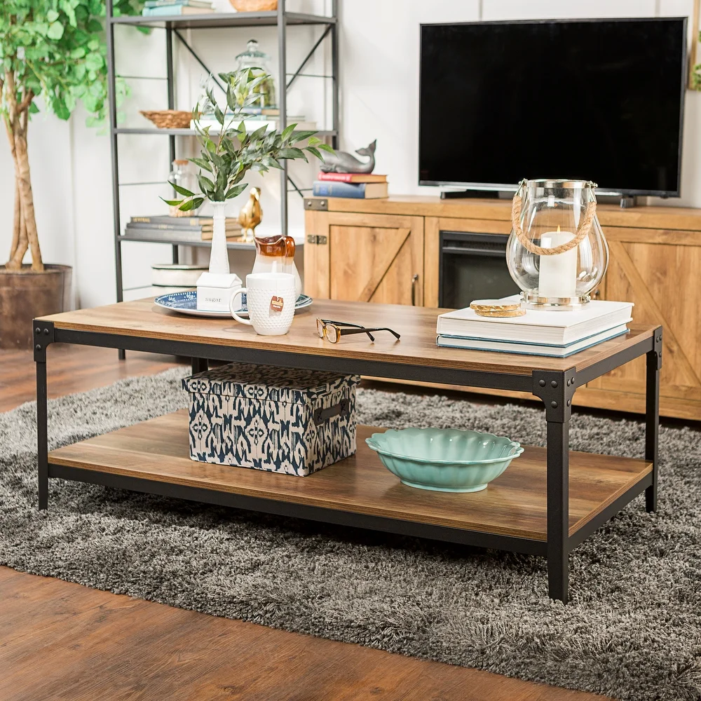 Modern Walnut Coffee Table W Shelves Cocktail Tv Table Living Room Furniture New Coffee Table Contemporary Home Furniture Furniture [ 800 x 1000 Pixel ]