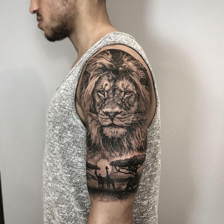 Andy Blanco Andyblancotattoo Instagram Photos And Videos Lion Shoulder Tattoo Lion Head Tattoos Animal Sleeve Tattoo