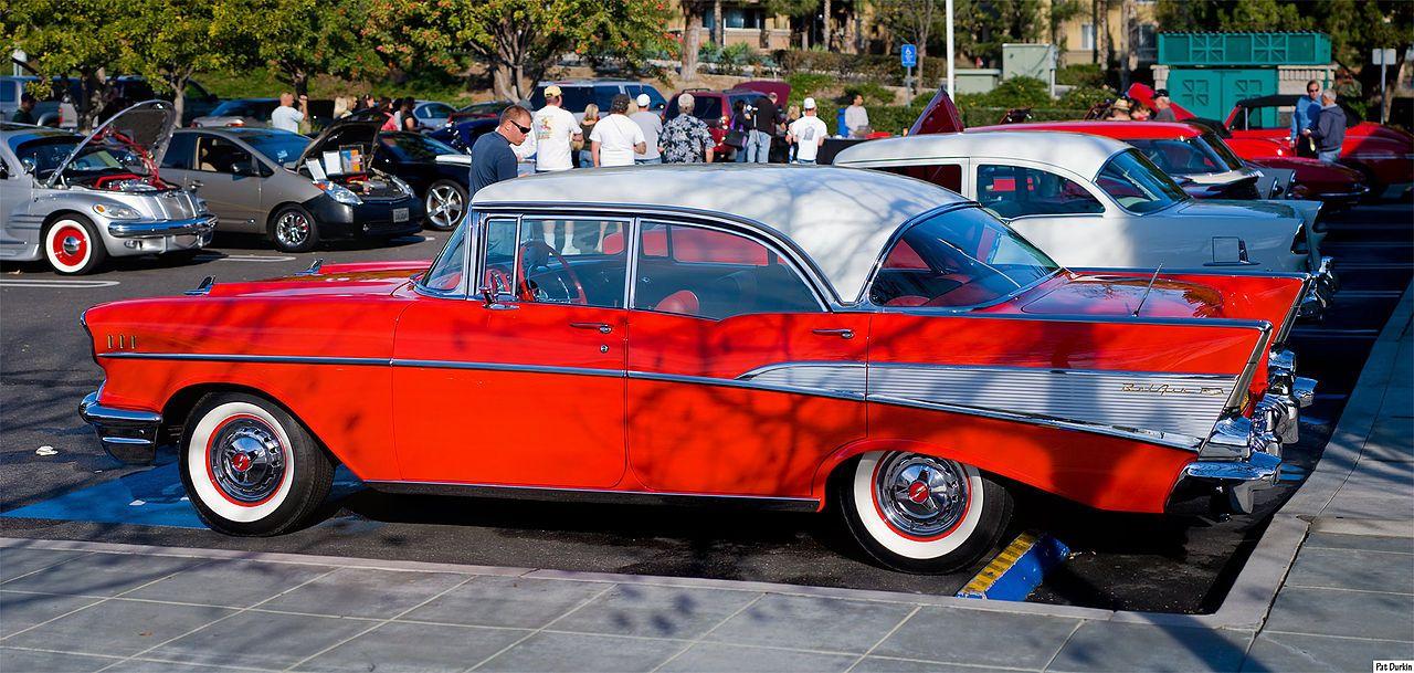 1957 Chevrolet Bel Air Sport Sedan Rear Left Tri Five