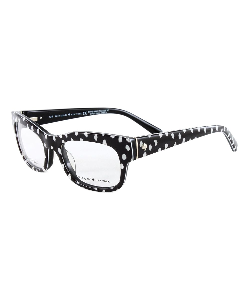 919a40ba020a Black & White Dot Karena Eyeglasses Kate Spade Glasses, Kate Spade Designer,  Glasses Frames