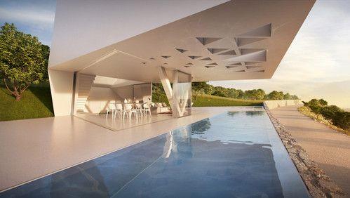 future, villa f, ornung and jacobi, architecture, future design, futuristic construction, futuristic buildings, futuristic interior, future ...