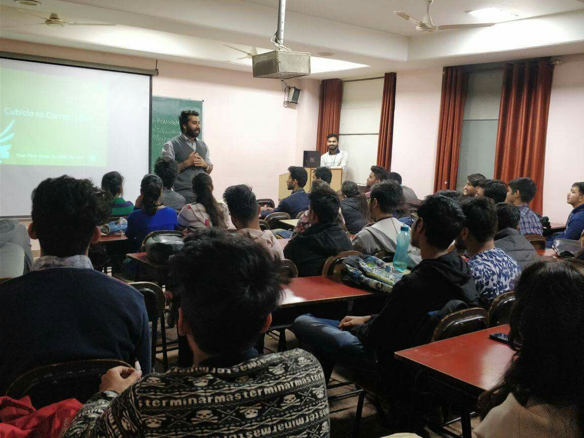 A guest lecture for students of BBA and students was