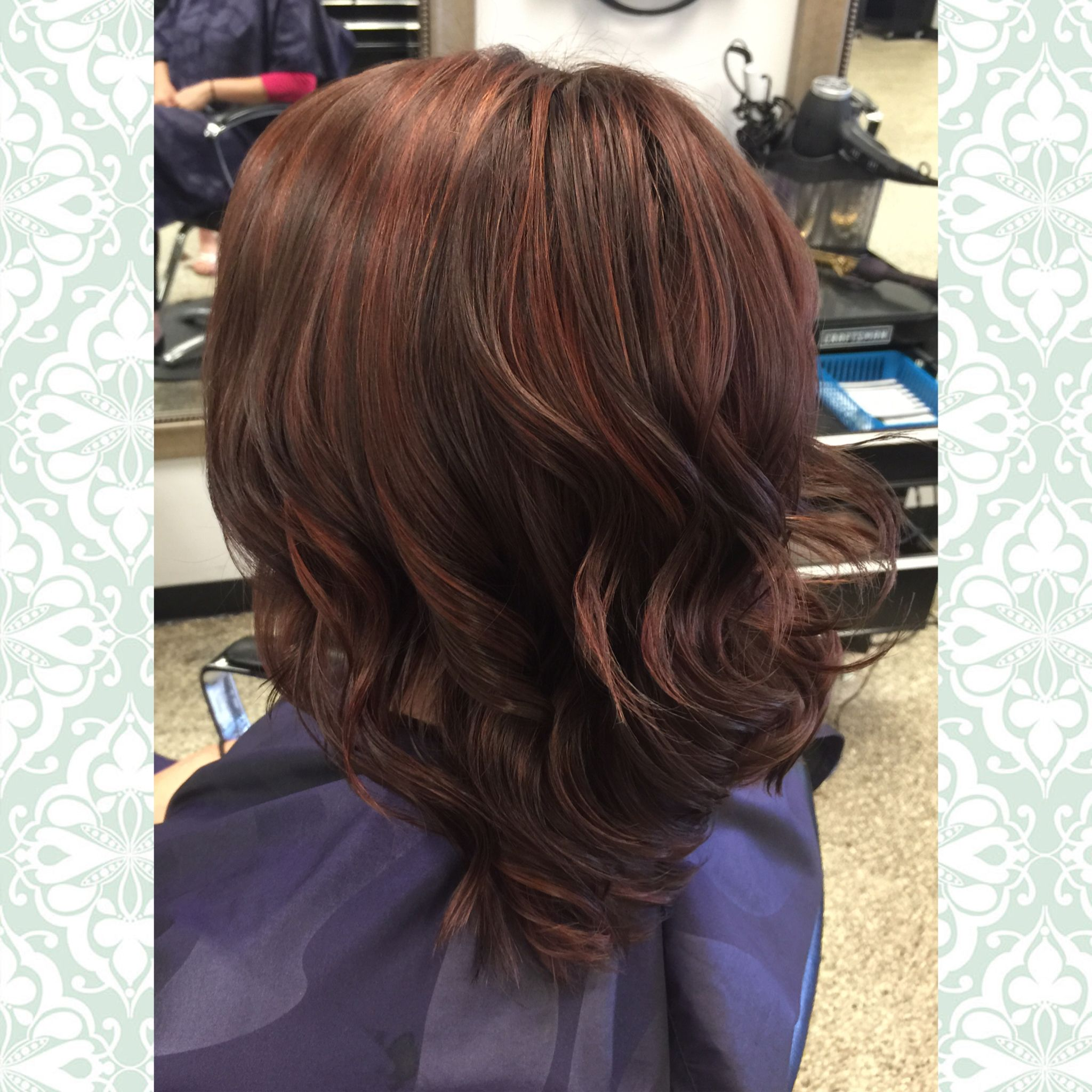 Chocolate Brown Hair With A Cinnamon Red Highlight Hair By Mandy Young Https Www Facebook Hair Color Chocolate Red Highlights In Brown Hair Cool Hair Color