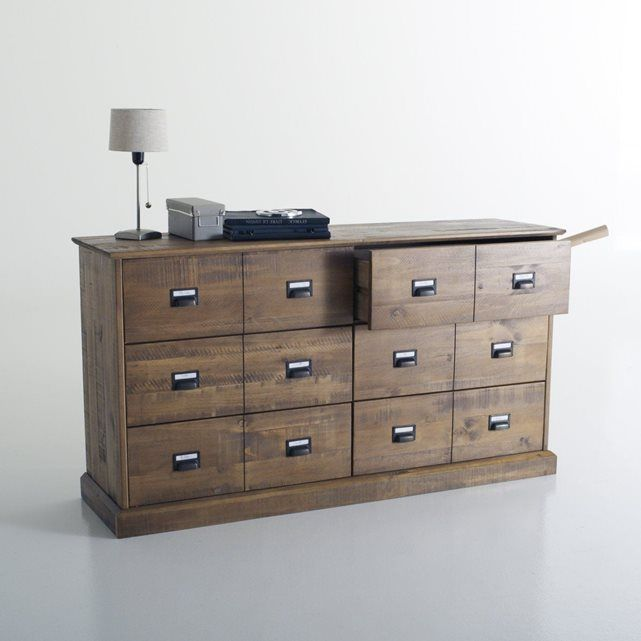 Commode pin massif tiroirs lindley with ikea commode hemnes 6 tiroirs - Ikea commode hemnes 6 tiroirs ...