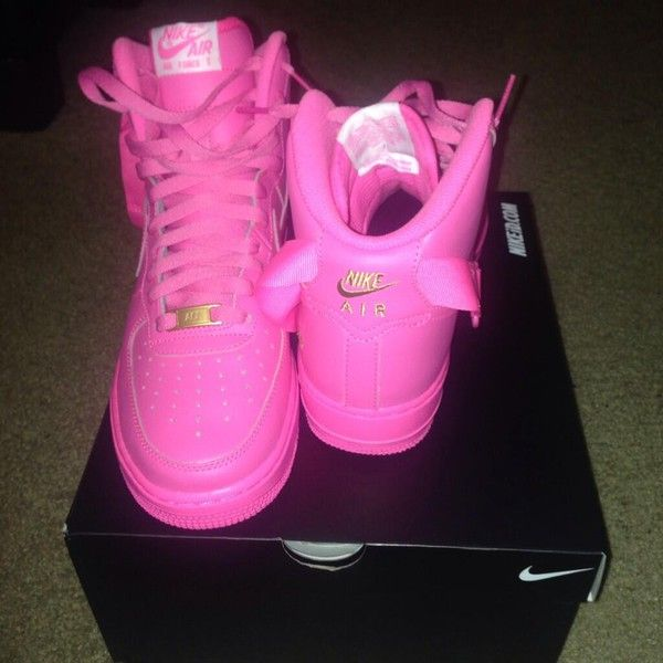 nike air force neon pink