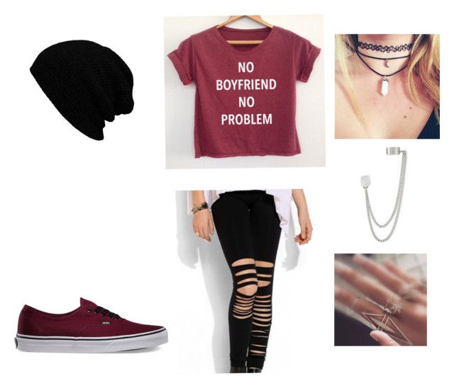 Gettin' ready for the FALL by phia01 on Polyvore featuring polyvore, moda, style, Vans and French Connection