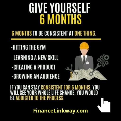 financialfreedom quotes: give yourself 6 months