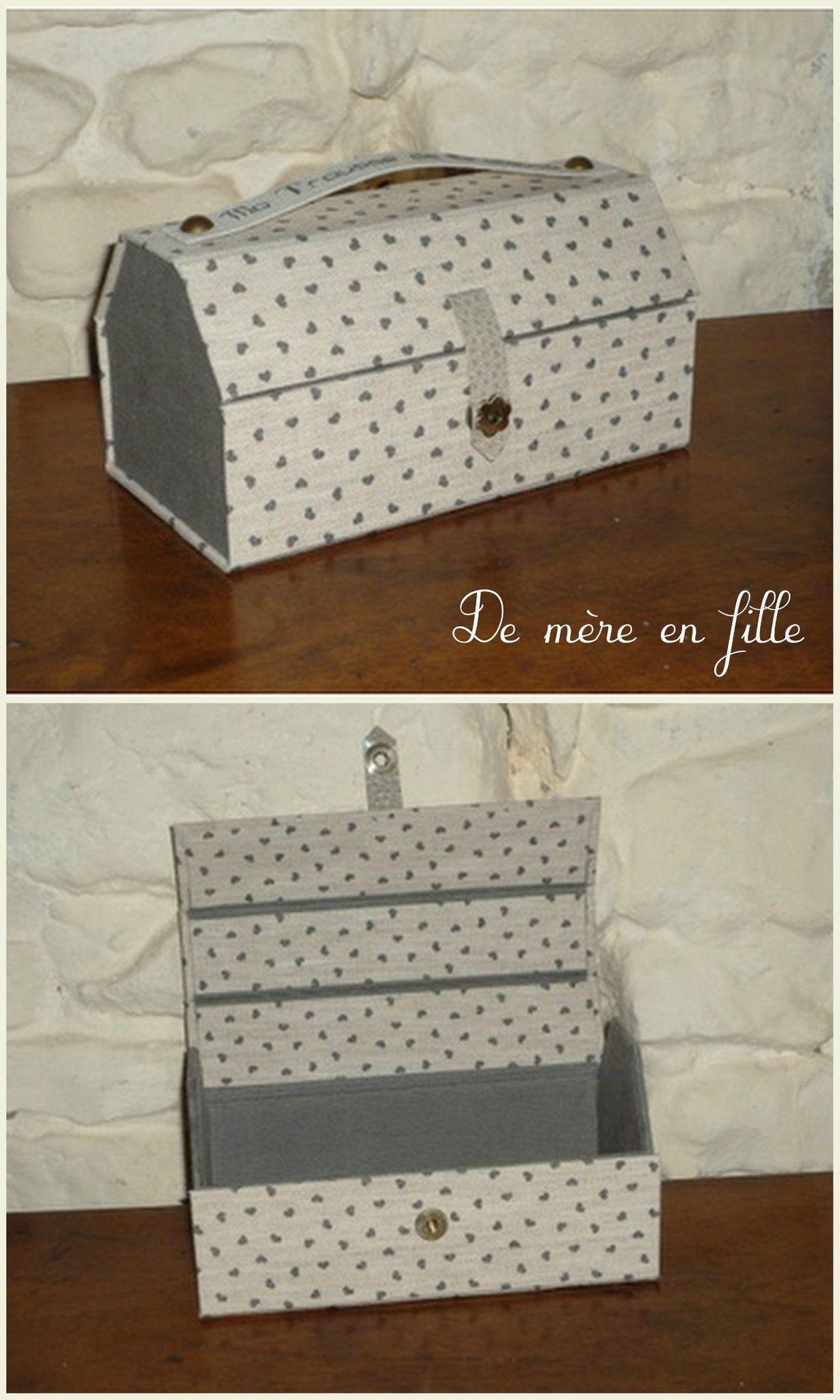 Kits & Fiches cartonnage - De mère en fille   Tutoriels cartonnage, Cartonnage boite, Cartonnage