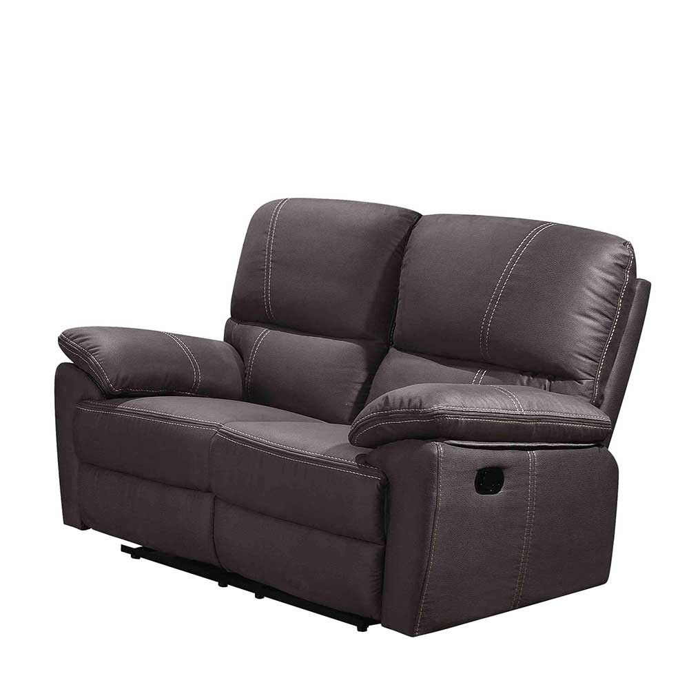 2er Couch In Anthrazit Microfaser Chiceria 2er Couch Couch Und Chesterfield Sessel