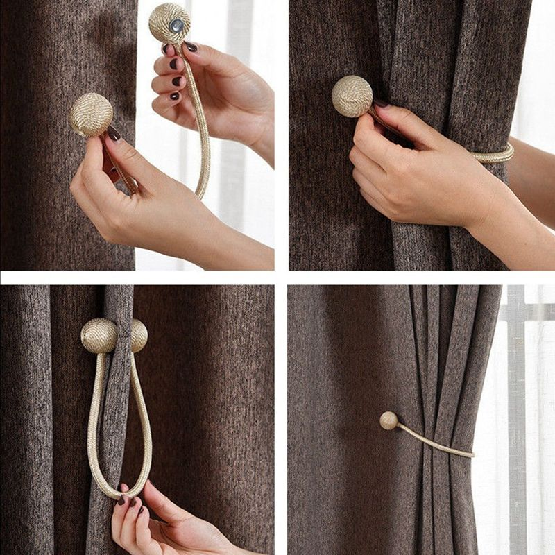 Diy Curtain Tie Back From Hardware Diy Curtains Home Decor