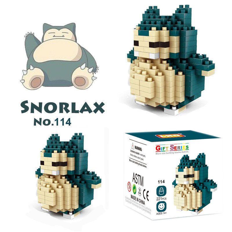 Snorlax Pokemon Nanoblock Micro Sized Building Block Construction Kawada NBPM012