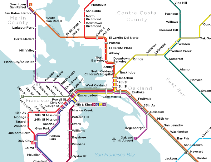 San Jose Subway Map.Ughh 1956 Bart Proposal 2012 Bart Reality Word San