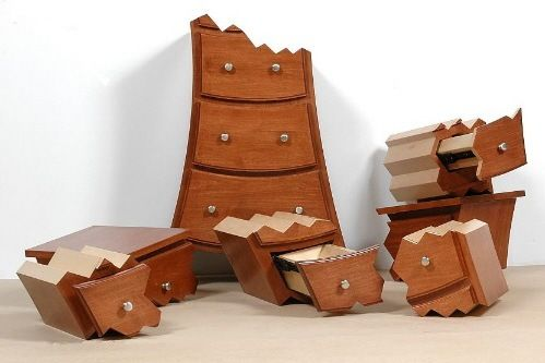 crazy furniture explosion cabinet