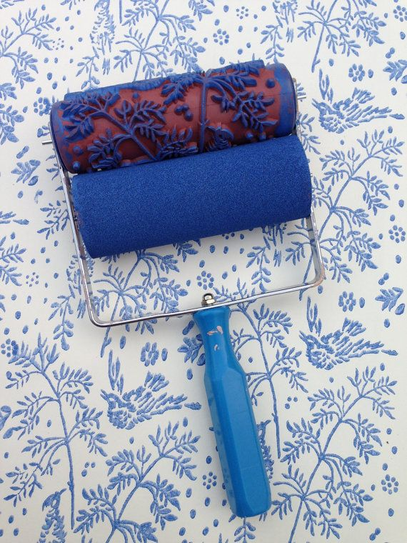 Patterned Paint Roller In Spring Bird Design And Applicator By