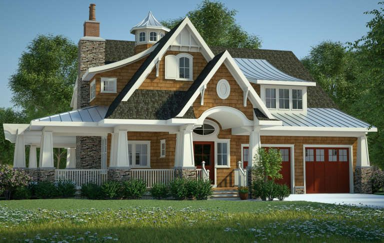 House Plan 7806 00015 Craftsman Plan 3 197 Square Feet 4 Bedrooms 3 5 Bathrooms In 2021 Shingle Style Homes Craftsman House Plans Cottage House Plans