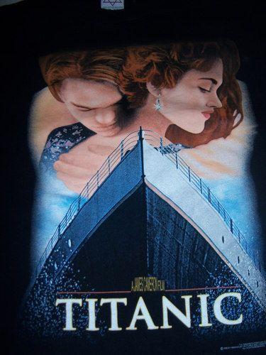 Vtg 90s Titanic Movie T Shirt Adult Large L Leonardo Dicaprio