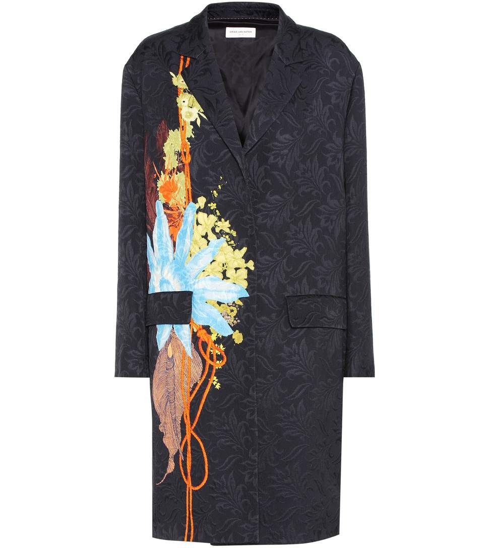 4aa67dc1f8da31 Shop Jacquard coat presented at one of the world s leading online stores  for luxury fashion. Find this Pin and more on Dries Van Noten ...