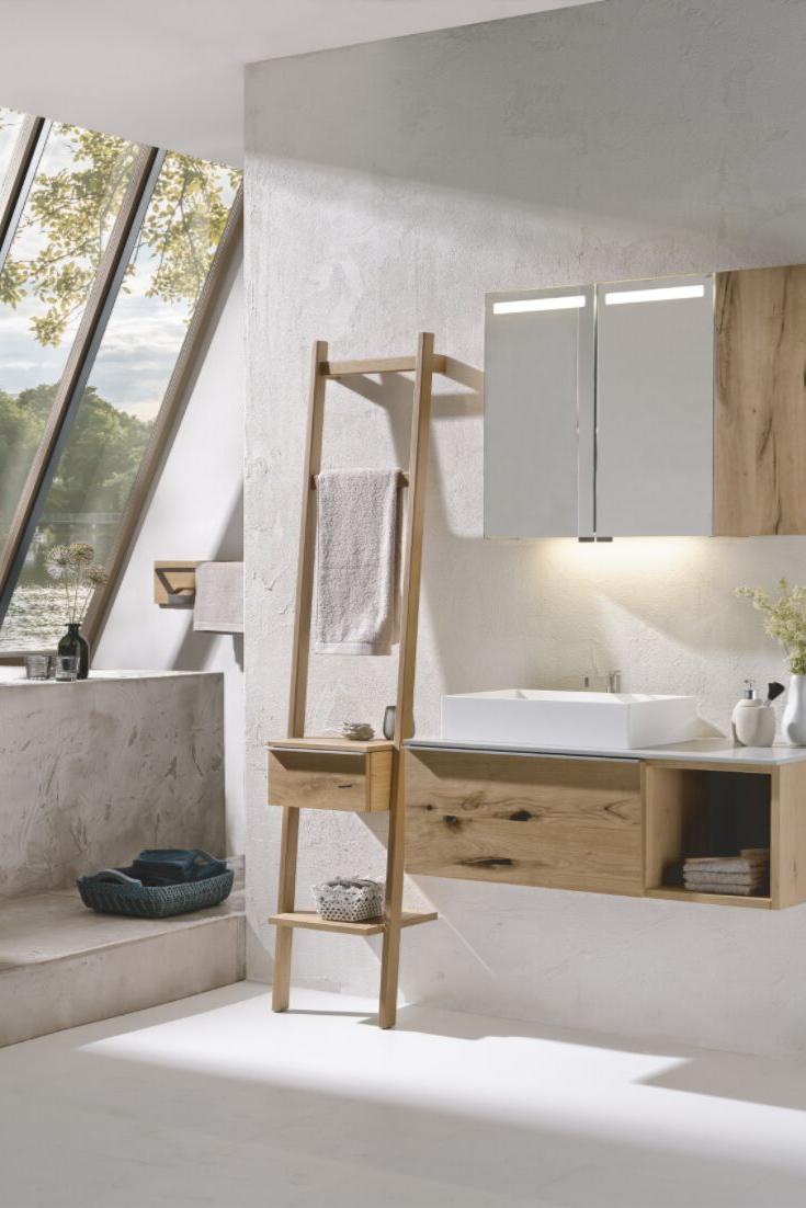 Bad Badezimmer Waschtisch Waschbecken Unterschrank Unterschrank Badmobel Holzmobel Leiter Dekoration S In 2020 Unterschrank Spiegelschrank Bad Holz Waschtisch