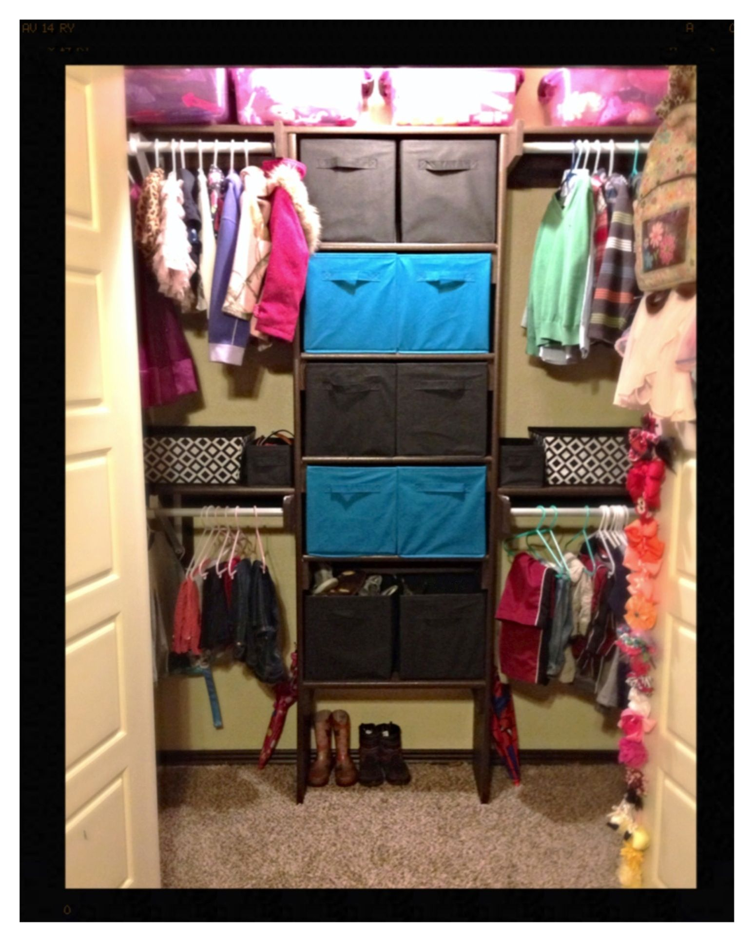 Canvas Fabric Storage Cubes To Organize My Kids Bedroom Closet ... Cheap!!  Cubes From Dollar General!