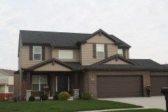Dark Roof Mastic Musket Brown Trim Mastic Pebblestone Clay Siding Normal Il Brown House Exterior Exterior House Paint Color Combinations Brown Roofs