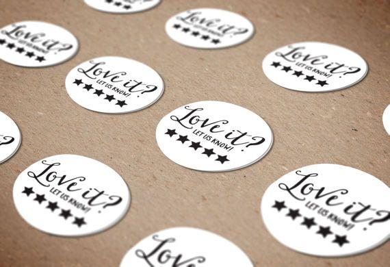 Love your order stickers custom seller stickers etsy seller